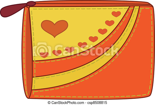 Purse with valentine hearts - csp8508815