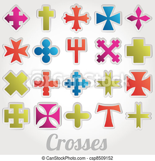 Set Crosses vector - csp8509152