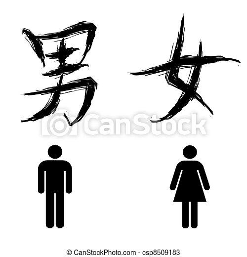 toilet sign  - csp8509183