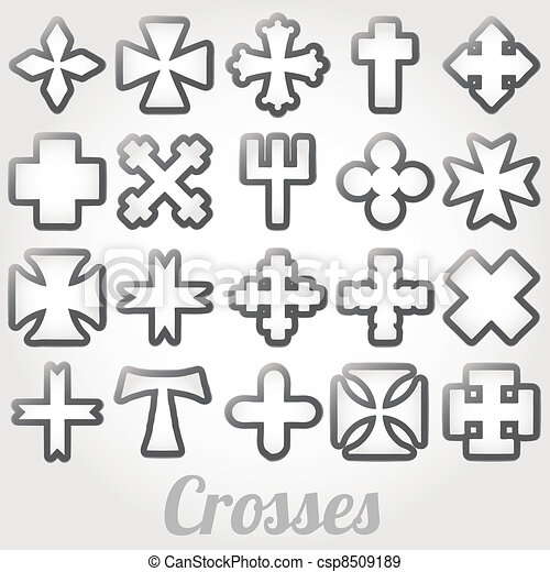 Set Crosses vector - csp8509189