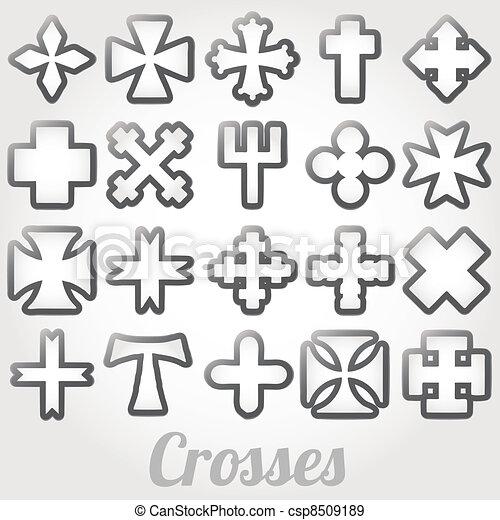 Set Crosses vector - csp8509189