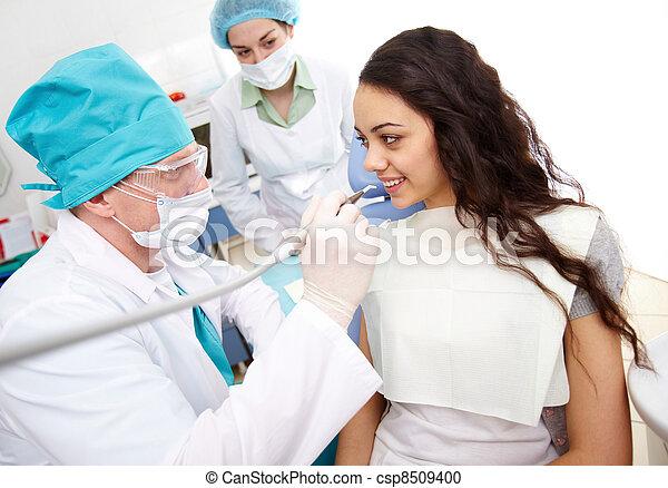 At the dentist - csp8509400