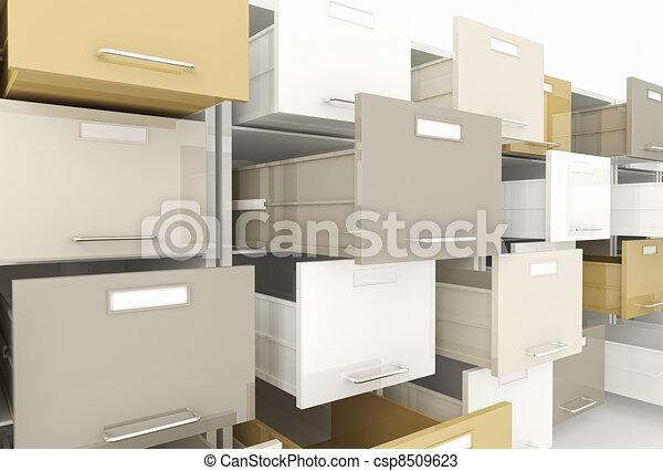 file cabinet - csp8509623