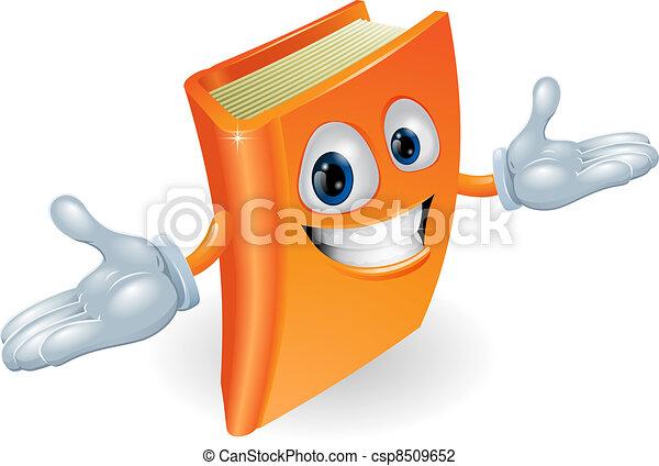 Book cartoon character mascot - csp8509652