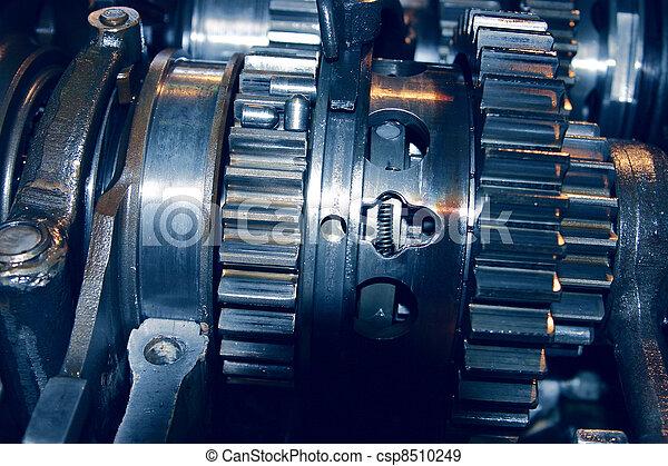 Set linked metal gears the automobile mechanism in plentiful greasing - csp8510249