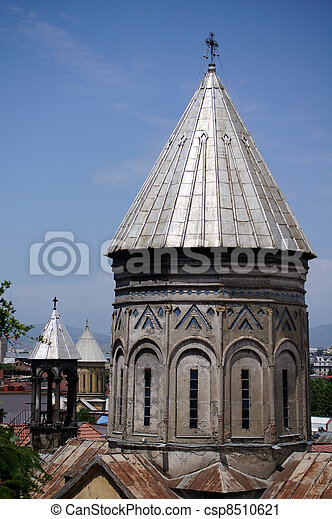 Churches and domes of Tbilisi - csp8510621