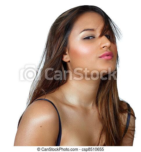 tanned latino woman - csp8510655