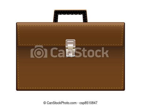 Brief case brown leather - csp8510847