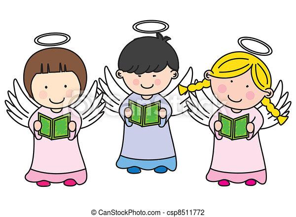 Three children making communion - csp8511772