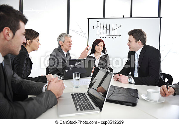 Businesspeople having a business meeting - csp8512639