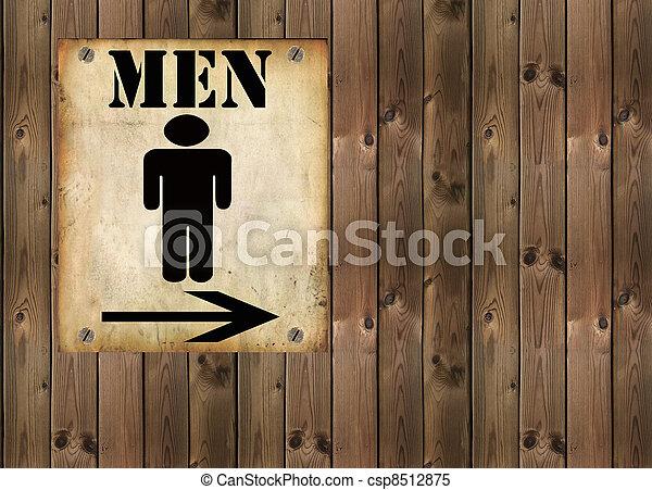 restroom sign - csp8512875