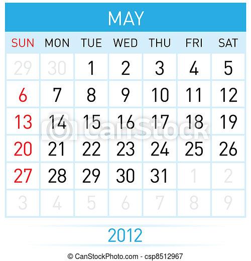 May Calendar - csp8512967