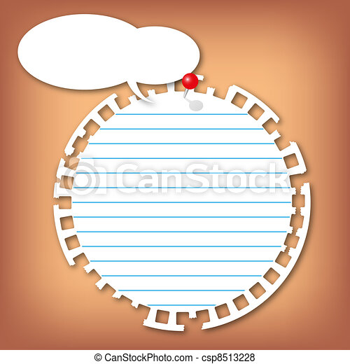 The torn sticky circle note pad  - csp8513228