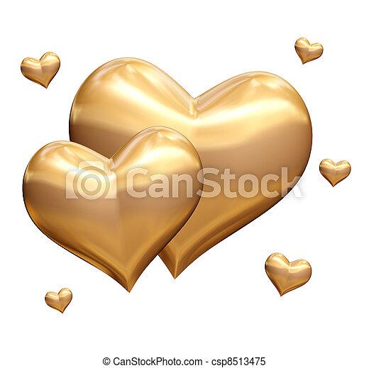 golden hearts 3d - csp8513475
