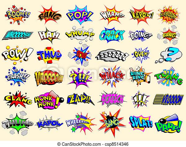 Cartoon Explosions - csp8514346