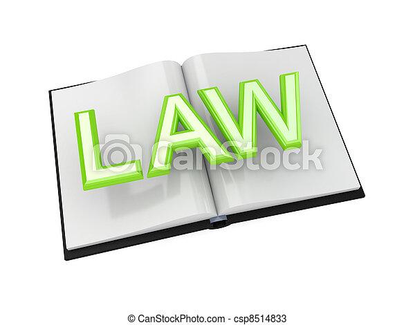 Book of Law concept. - csp8514833
