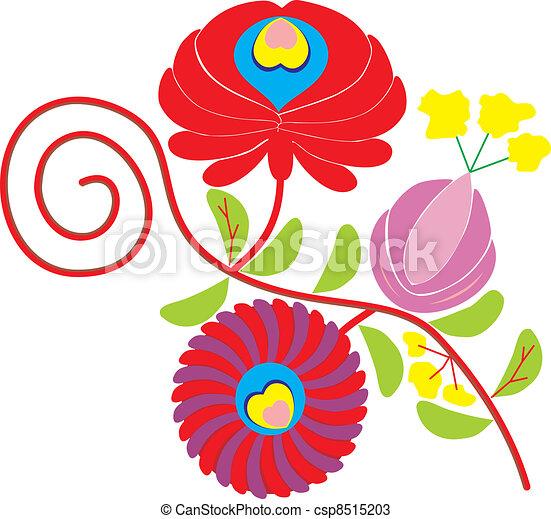 Embroidery Hungarian Matyo-style - csp8515203