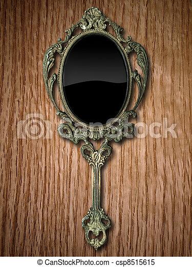 Images de main miroir sur rouges ch ne ancien main for Miroir de poche ancien