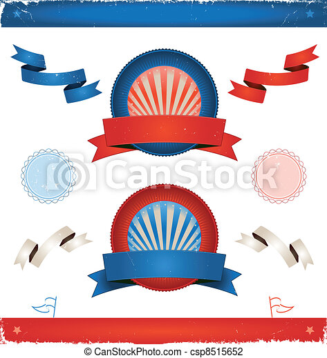 Elections In USA - Ribbons And Banners - csp8515652