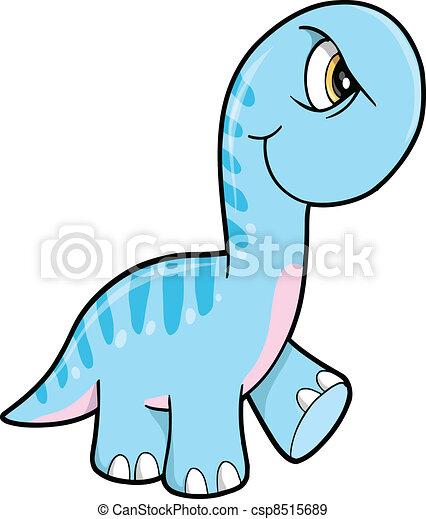 Mean Angry Blue Dinosaur Animal - csp8515689