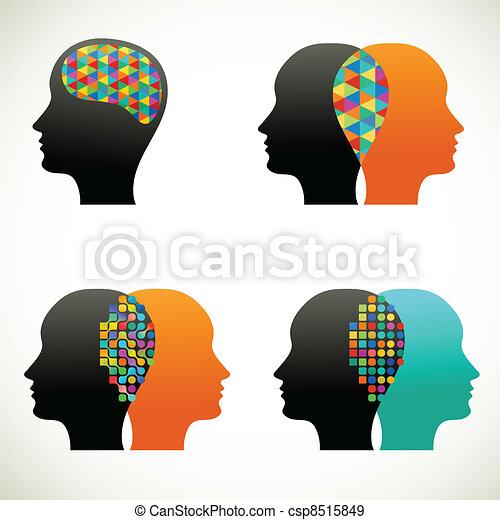 penser, gens, communiquer, parler - csp8515849