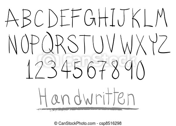 hand written alphabet - csp8516298