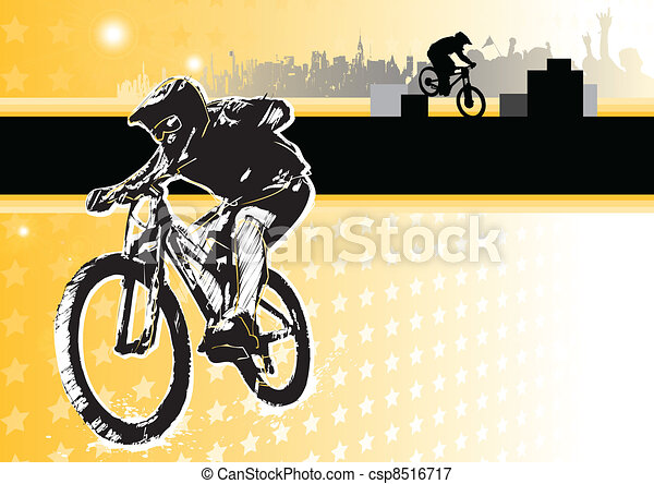 passion of biking - csp8516717