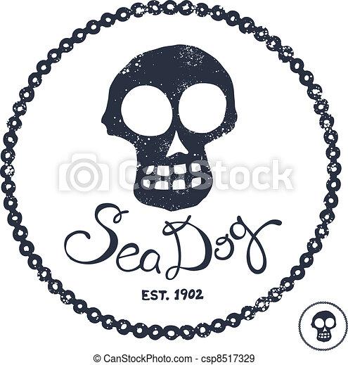 Vintage nautical illustration - csp8517329