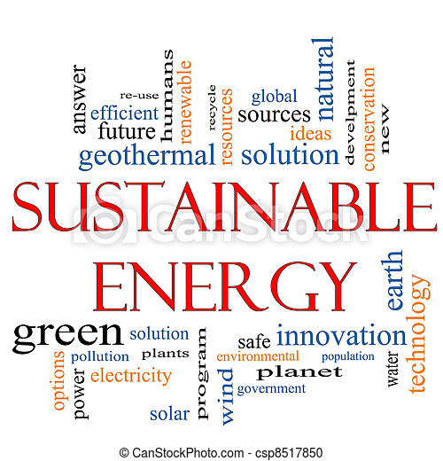 Sustainable Energy Word Cloud Concept - csp8517850