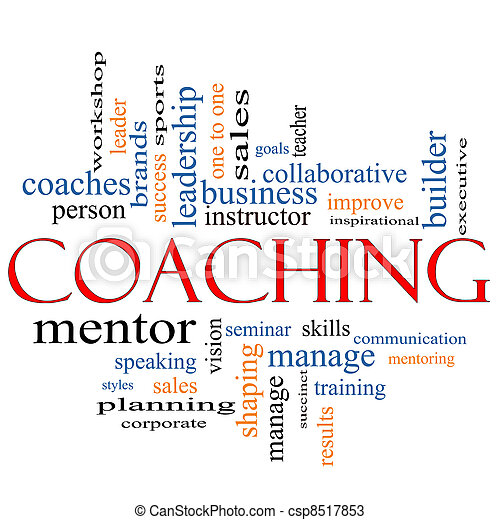Coaching Word Cloud Concept - csp8517853