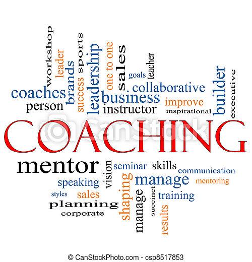 Coaching Word Cloud Concept - csp8517853