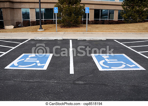 Stock Photo of Handicapped Parking Spaces at Office Building ...