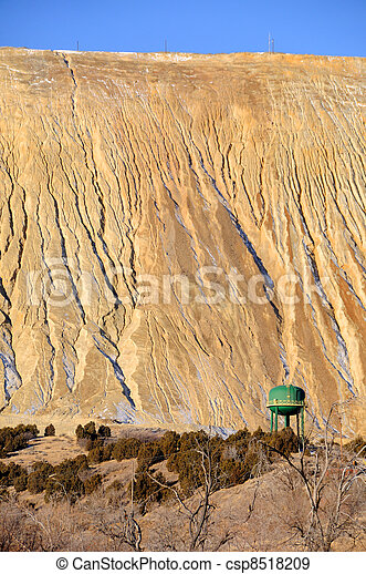 Giant Tailings Pile at Copper Mine - csp8518209