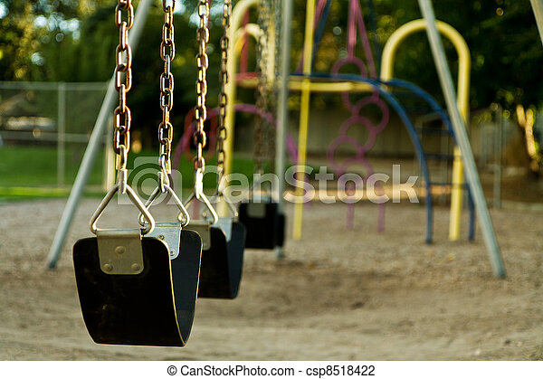 Empty childs swing set - csp8518422