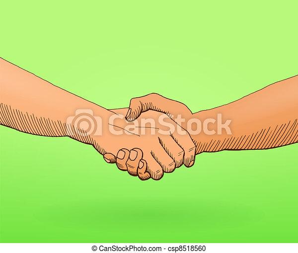 Shaking hands Illustration - csp8518560