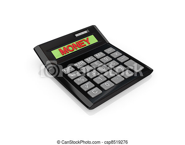 Big calc with a word MONEY on a screen. - csp8519276