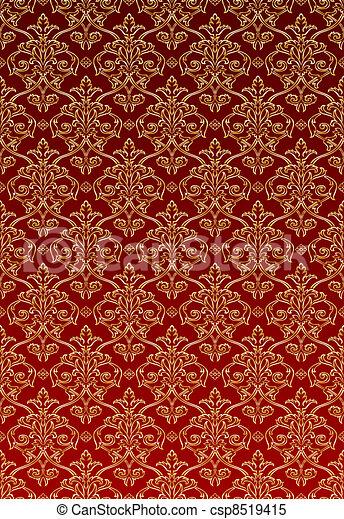 Archivio illustrazioni di stile carta da parati damasco for Carta da parati oro