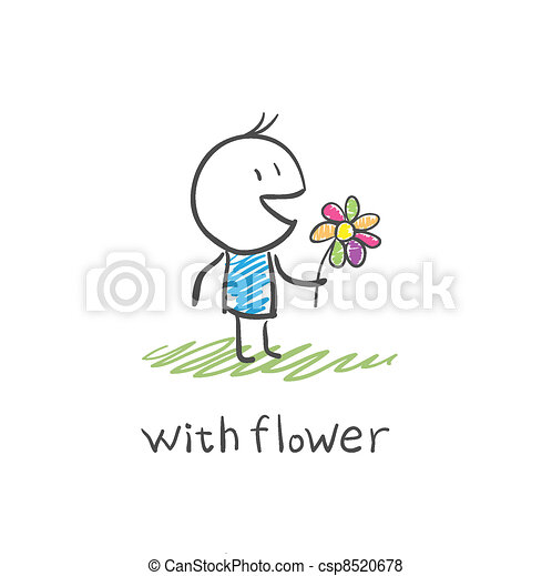 boy with a flower - csp8520678