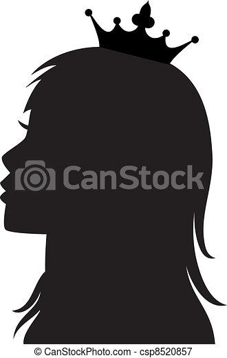 vector profile of princess or queen - csp8520857