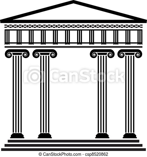 Greek Architecture Drawing vector illustration of vector ancient greek architecture with