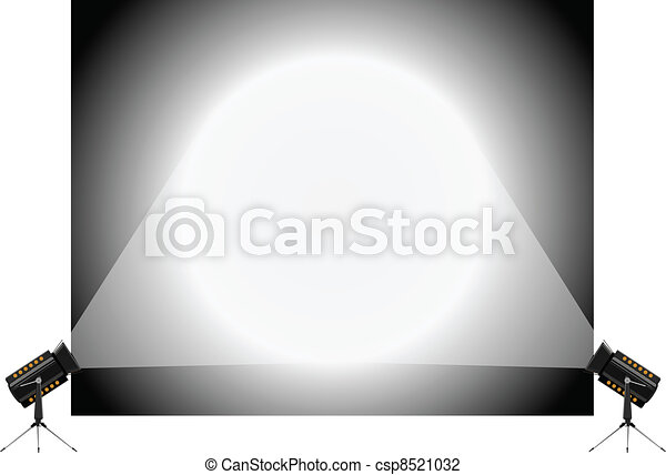 Vector illustration of the stand and spotlights - csp8521032