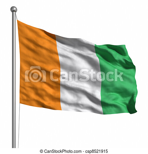 Flag of the Ivory Coast - csp8521915