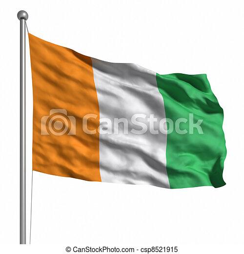 Flag of the Ivory Coast - csp8521915