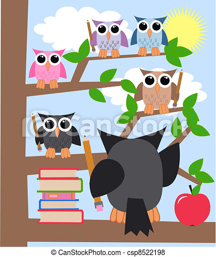 learning owls - csp8522198