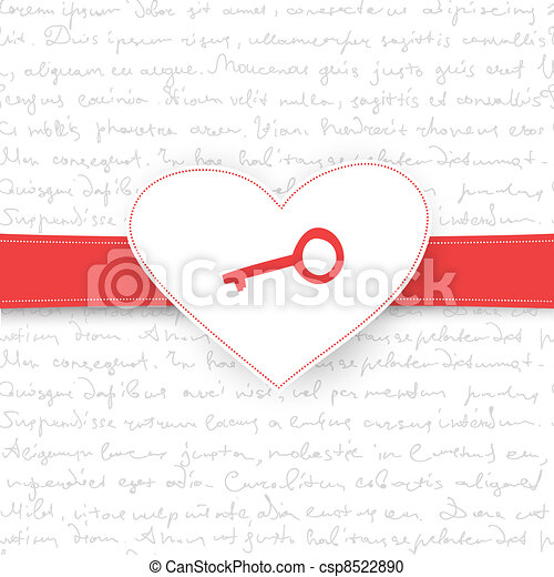 Valentine's Day gift card. Vector background, EPS10 - csp8522890
