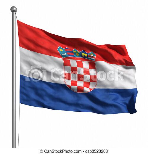 Flag of Croatia - csp8523203