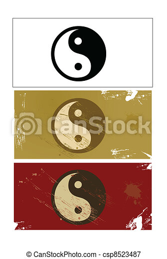 Yin and Yang sign vector - csp8523487