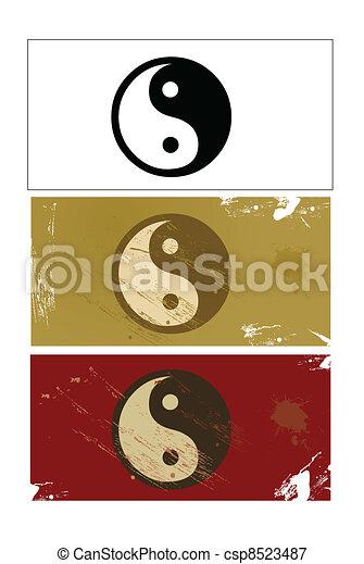 Yin and Yang sign vector - csp8523487