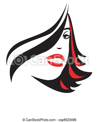 glamour girl on a white background - csp8523496