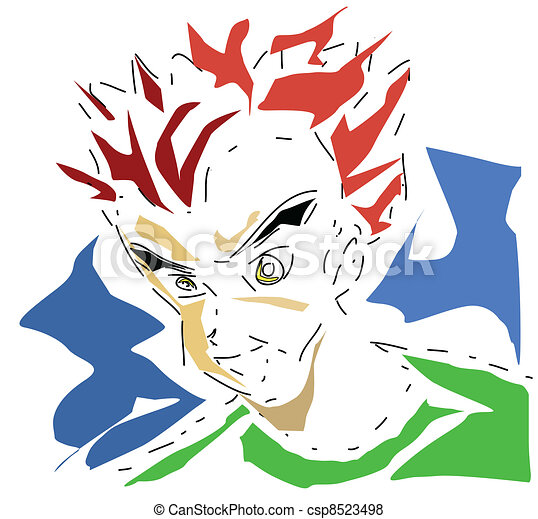 Manga boy - csp8523498